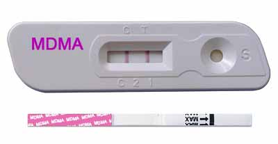 Drug Ecstasy Urine Test cassette and strip